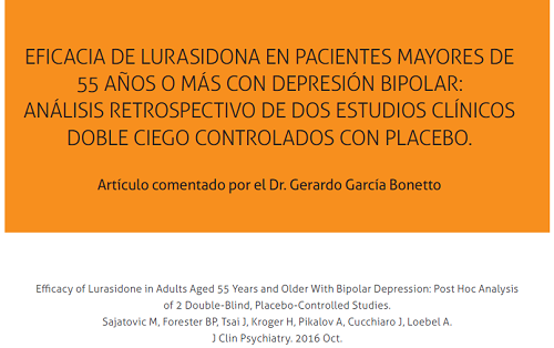 Eficacia de lurasidona en pacientes mayores de 55 años o más con depresión bipolar.